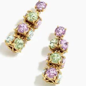 J. Crew twisted crystal drop earrings-- hyacinth